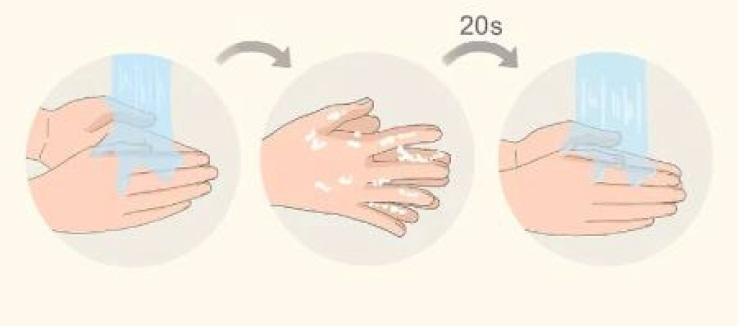 نحوه شستن دستها