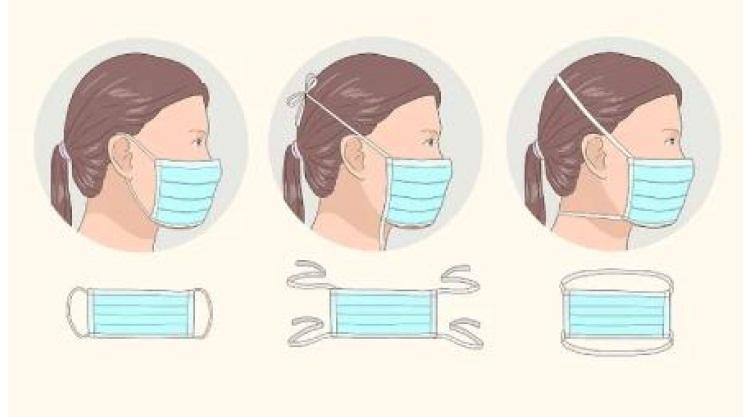 انواع مختلف ماسک های پزشکی بر اساس نوع بستن